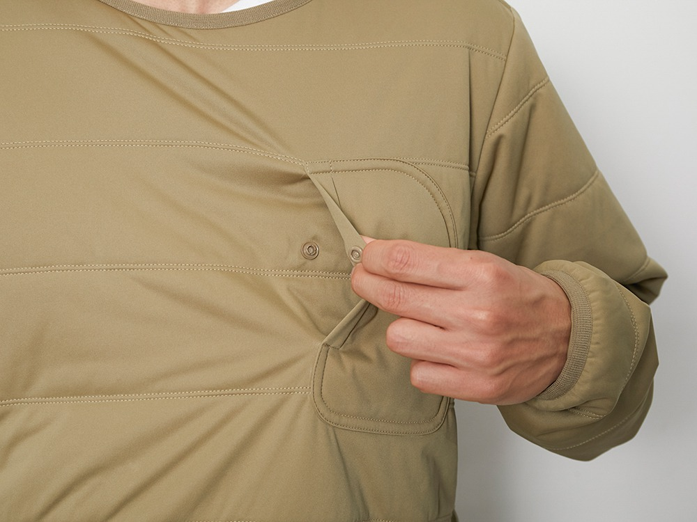 Flexible Insulated Pullover S Beige