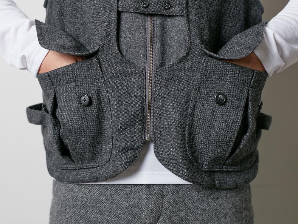 Wool TAKIBI Vest M Grey7