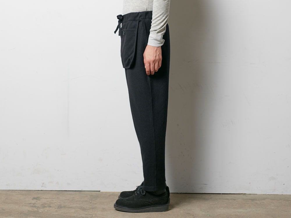 Wool Tight Knit Pants L Black3