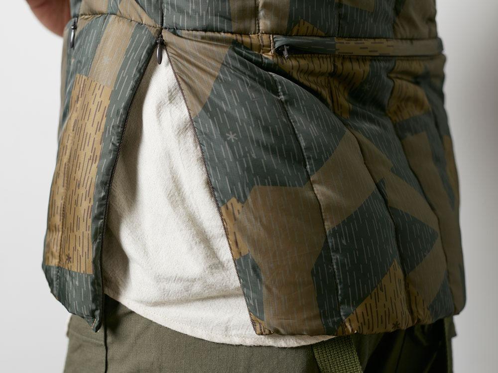 Printed Inner Down Vest 1 Olive7