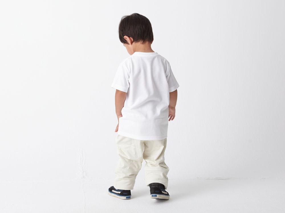 Kid's Printed Tshirt:Woodcut 2 White2