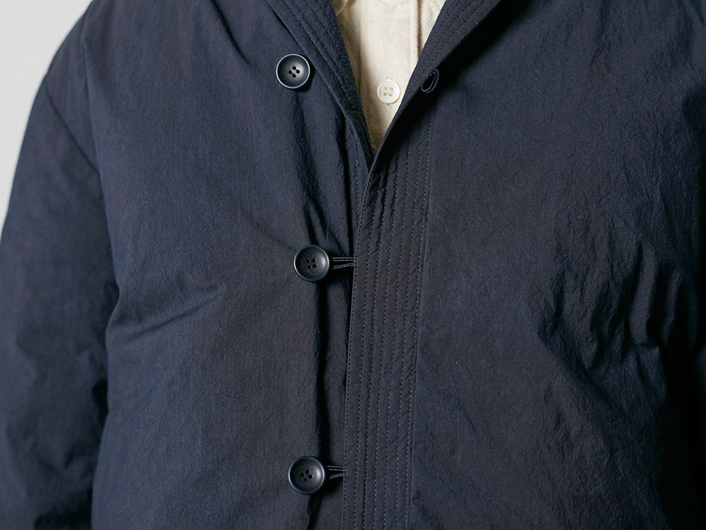 Indigo C/N Down Long Coat L Indigo6