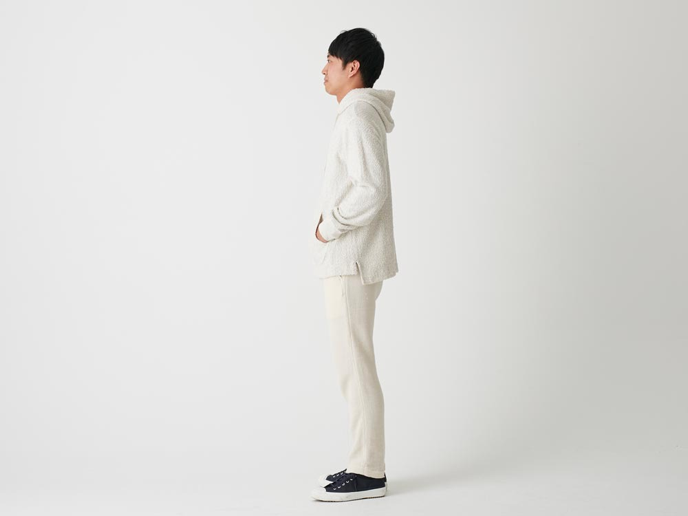 Long Loop Sweat Hoodie M White2