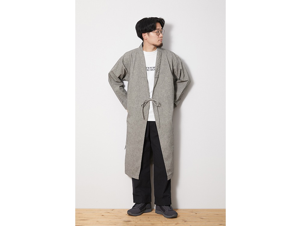 NORAGI Long Jacket S EcruBlack