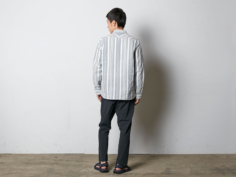 OrganicStripedShirt L Ecru3