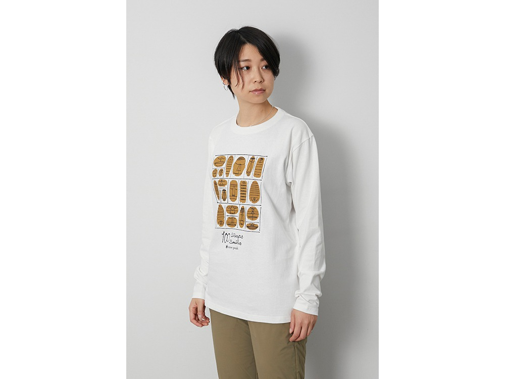 100 Sleep 100 Smile L/S Tee M White
