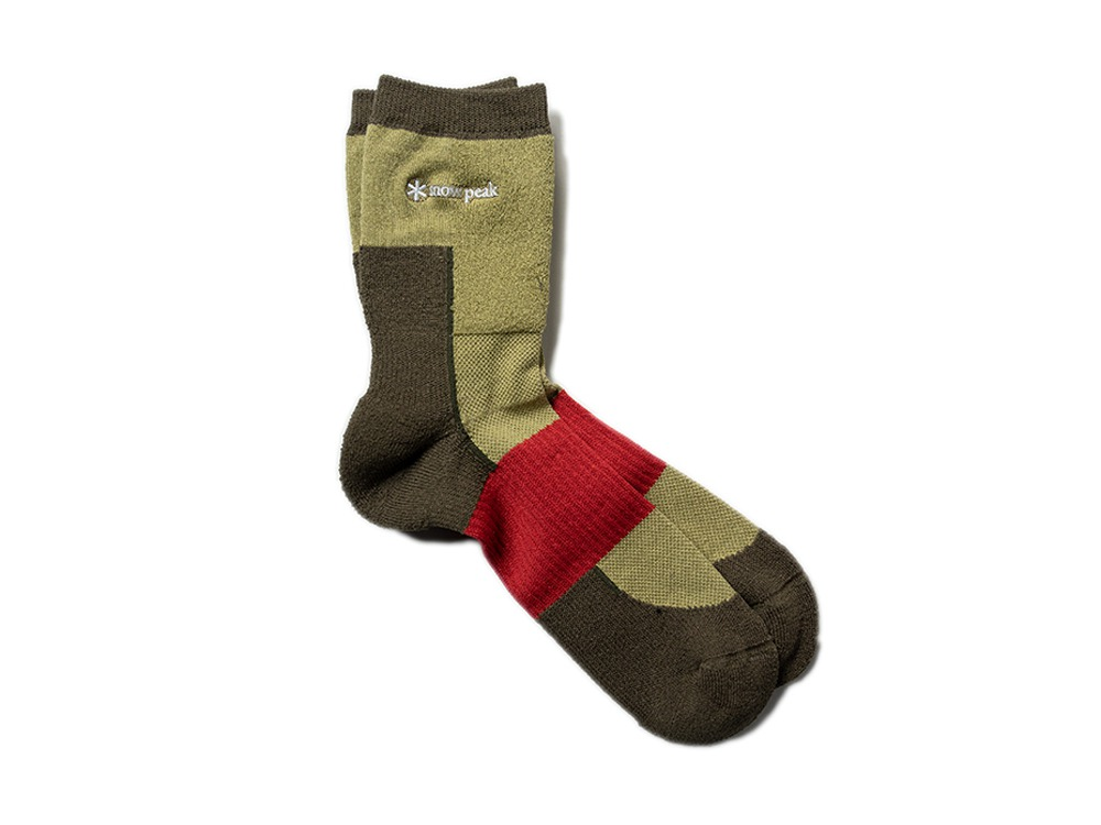 Washi Hybrid Socks L Brown
