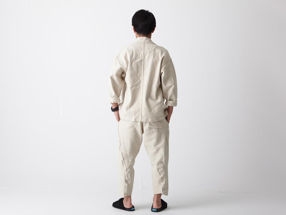 Linen HAORI Pants M Ecru3