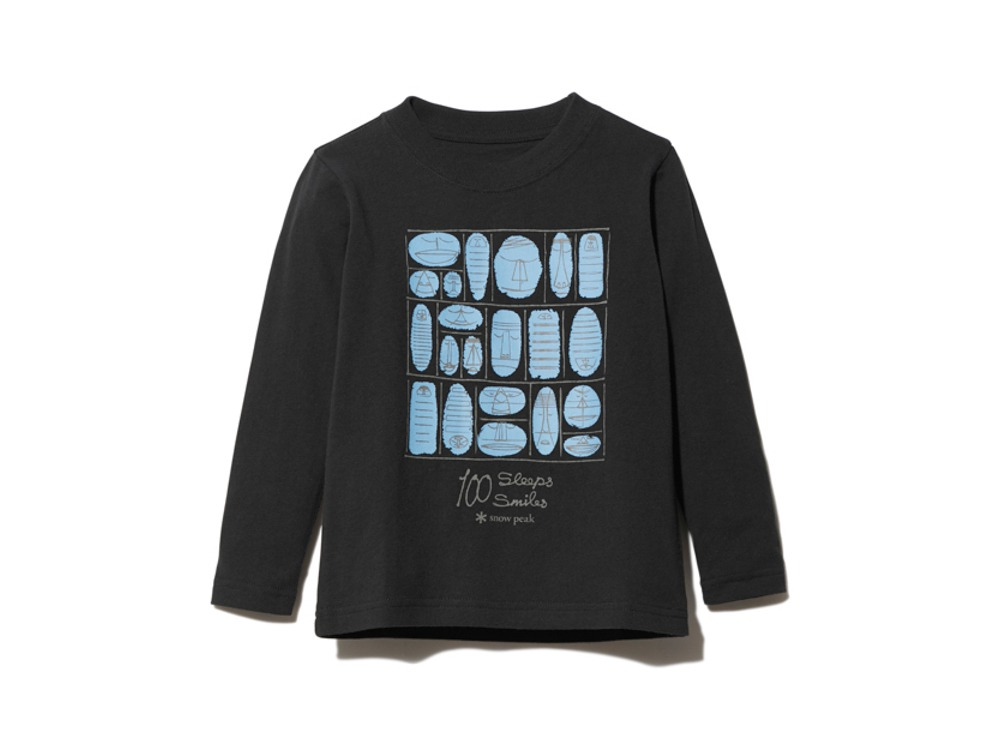 Kids 100 Sleep 100 Smile L/S Tee 4 BK
