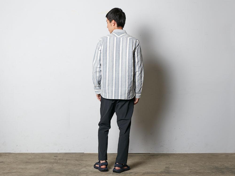 OrganicStripedShirt S  Navy3