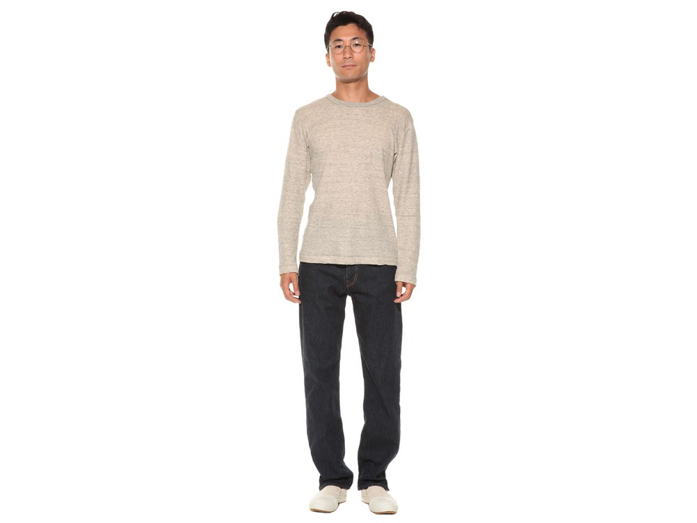 Ultimate Pima Double Knit Long Sleeve S M.Grey1
