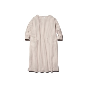 Cotton Herringbone Stripe Dress