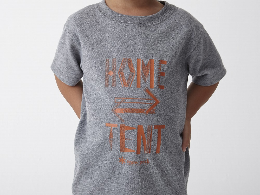 Kid's Printed Tshirt:HomeTent 1 Grey2