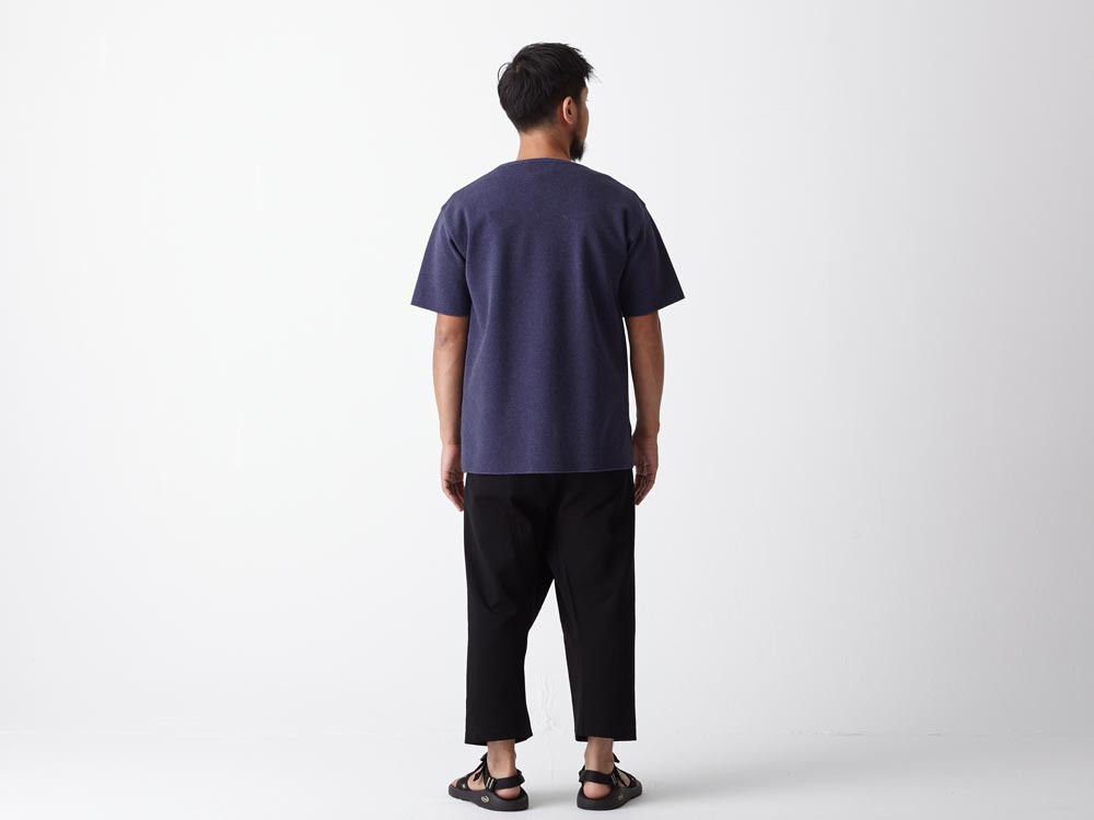 Cotton Ponte Thai Pants 1 Navy3