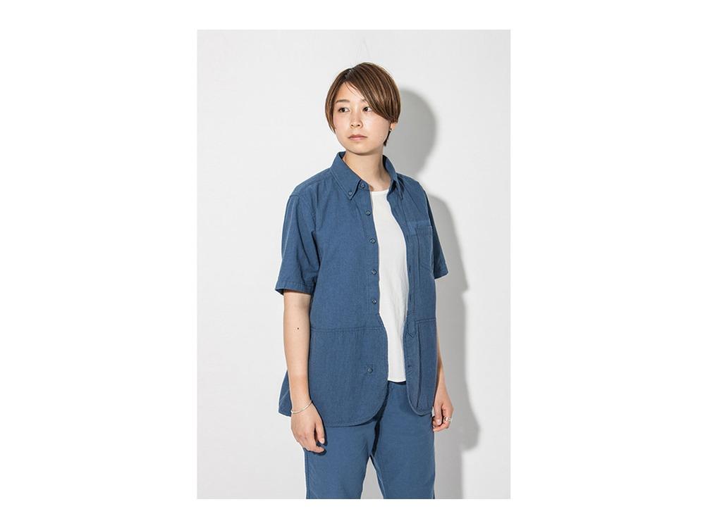 現代のワークシャツS/S  M Blue