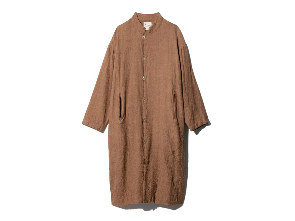 Hand-woven Wild Silk Coat 1 Natural