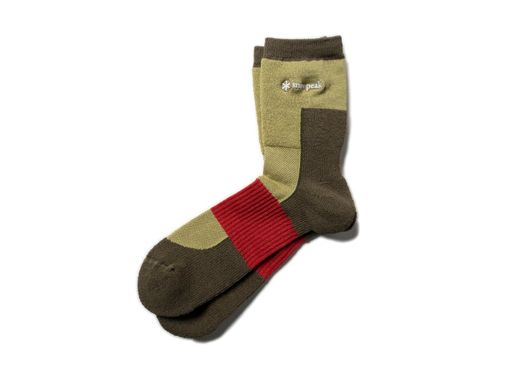 Washi Hybrid Socks S Brown