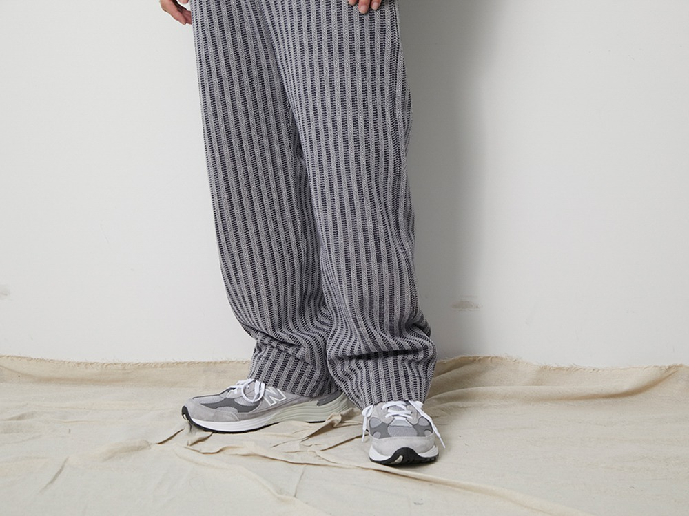 Cotton Herringbone Stripe Wide PT M NV