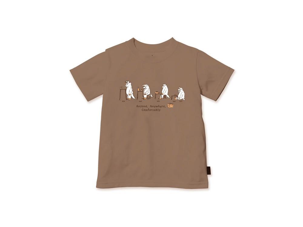 キッズ KKS Tシャツ 3 Brown