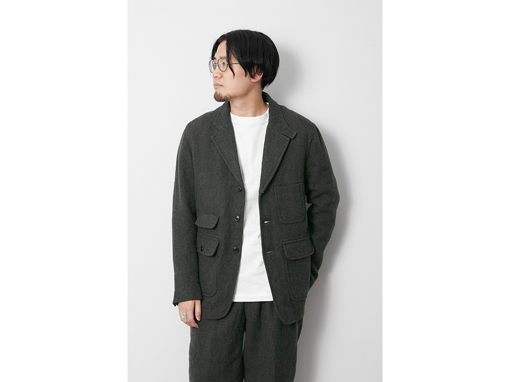 Wo/Li Herringbone Tweed Jacket 1 MGR