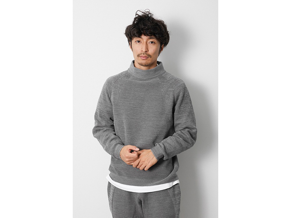 WG Stretch Knit Pullover S M.Grey