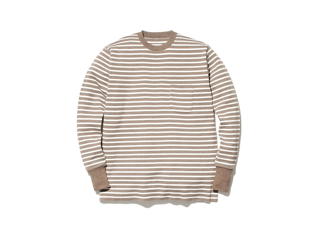 Wool Linen/Pe Crewneck Long Sleeve 1 BRWH