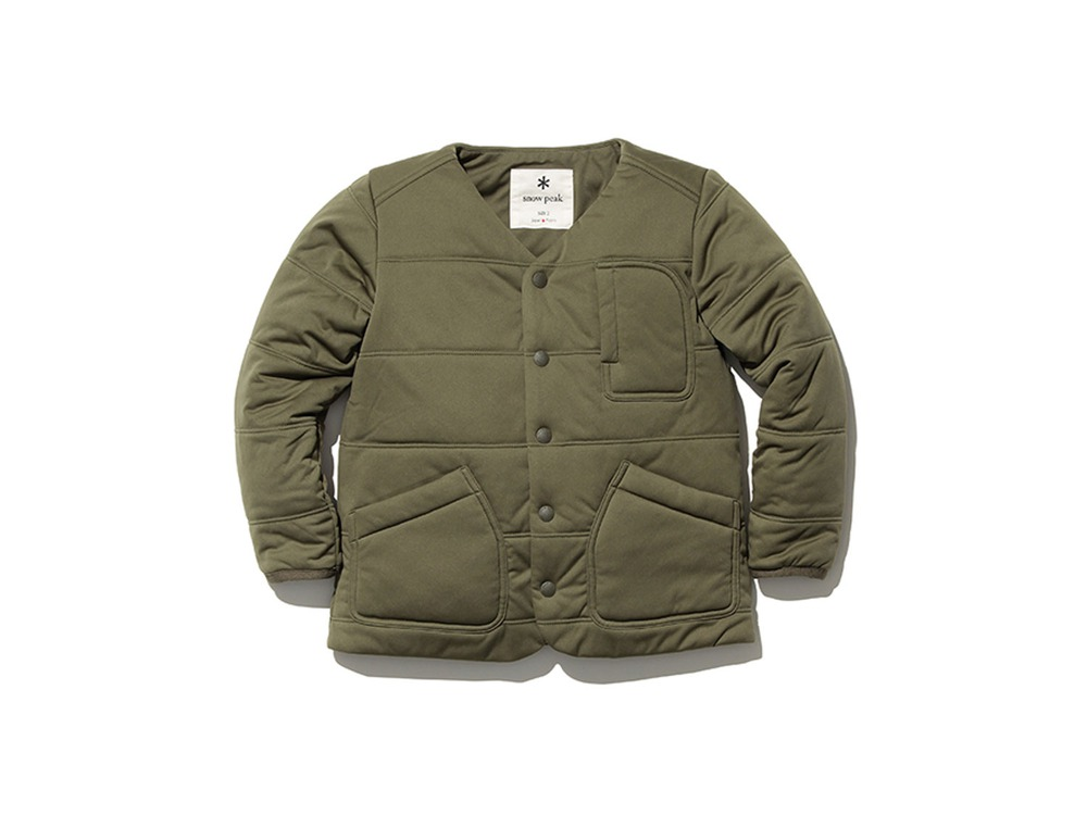 Kids Flexible Insulated Cardigan 1 Olive