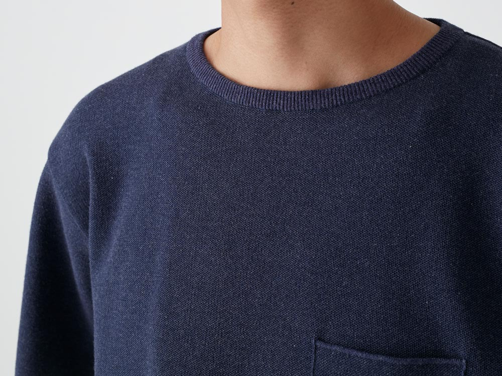 Cotton Dry Pullover L Navy4