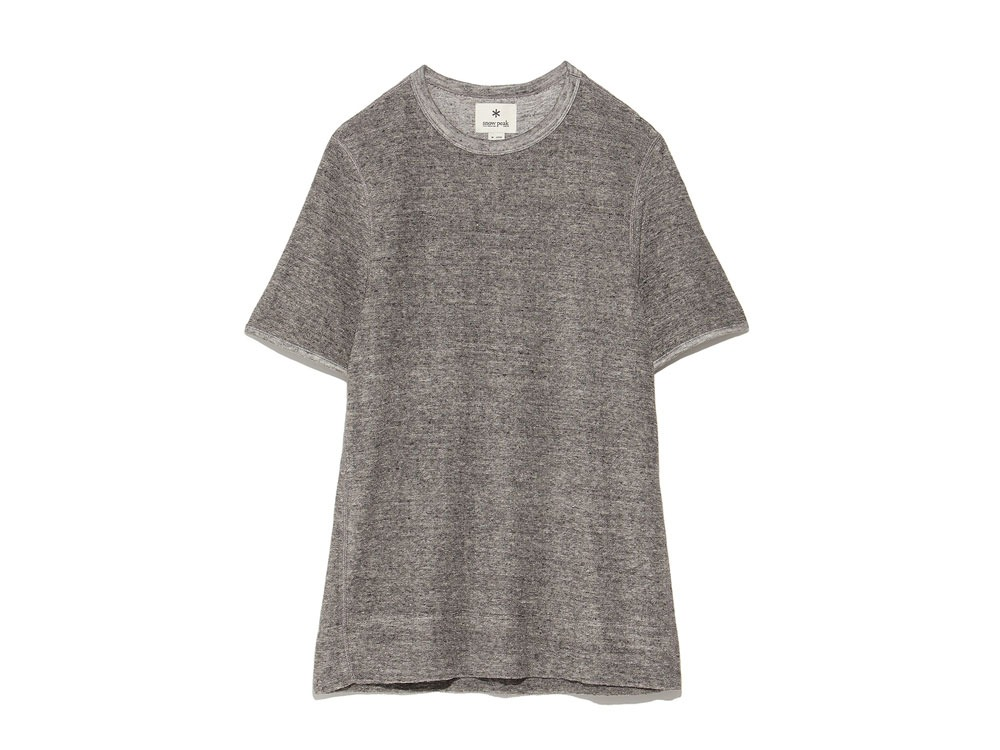 Linen Pile Tshirt 1 Charcoal0