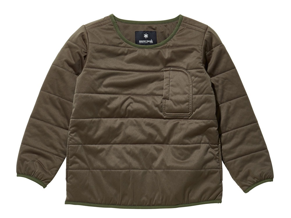 Kids Flexible Insulated Pullover1Olive