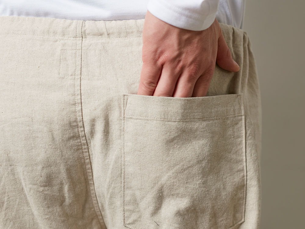 Safari Linen Pants M Beige6