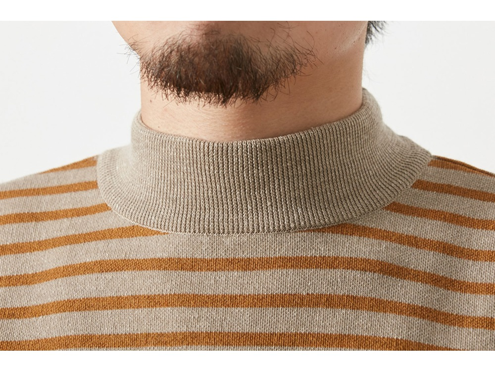 Wool Linen/Pe Turtlneck Long Sleeve S BK