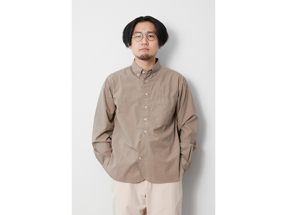 Ultimate Pima Poplyn BD Shirt 1 Beige