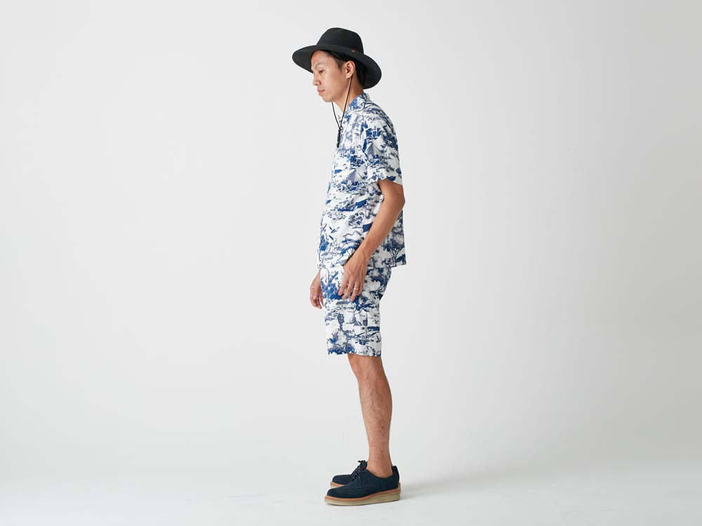 Camp Aloha Shorts S Olive2