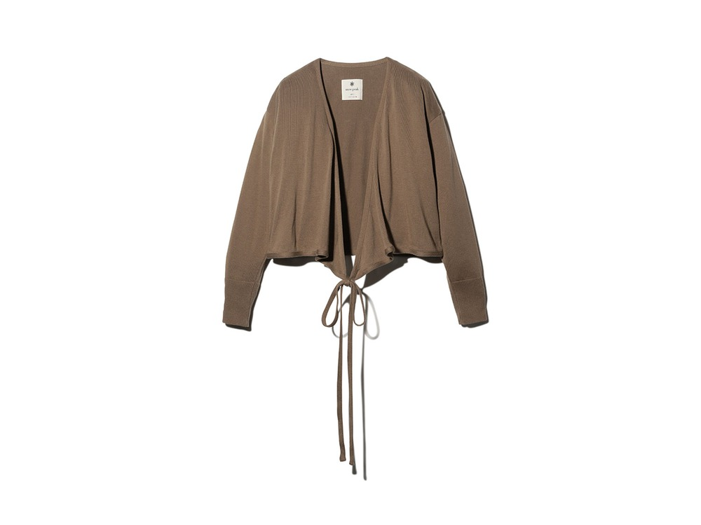 OG Cotton Cache-Coeur Cardigan 2 Brown