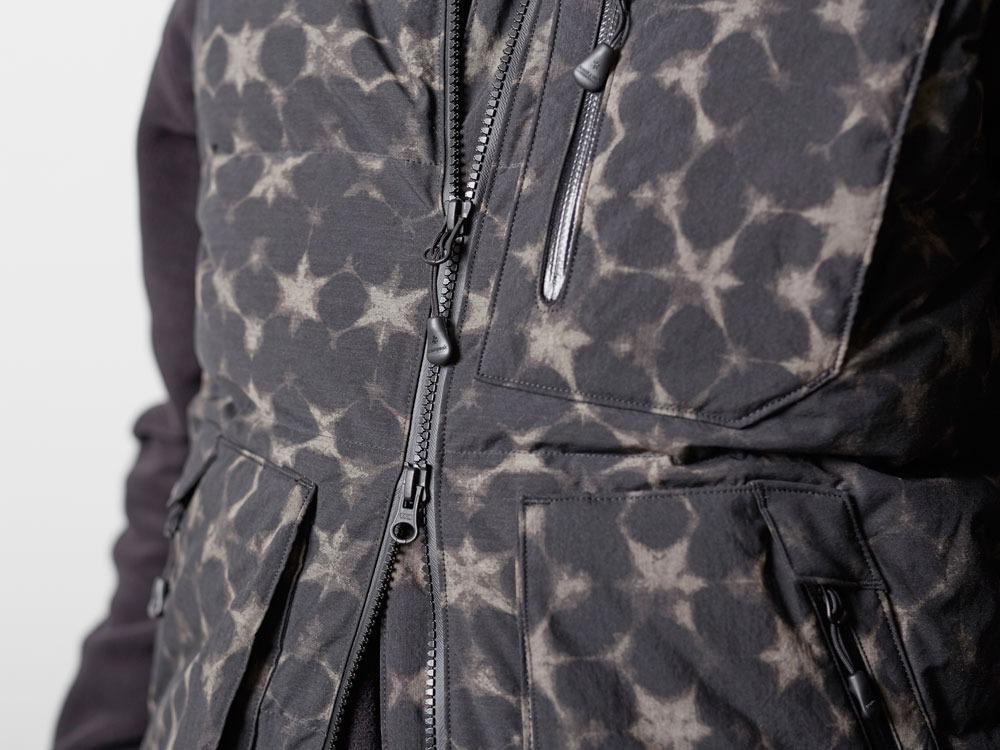 Indigo C/N Down Vest Print M Black8