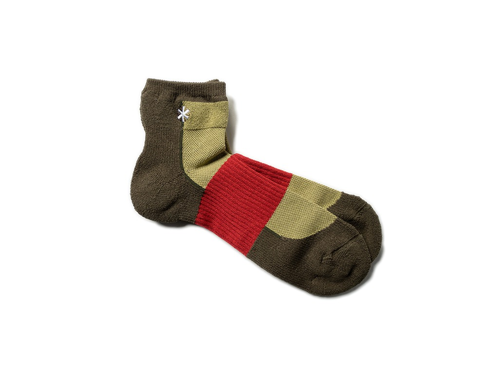 Washi Hybrid Short Socks L Brown
