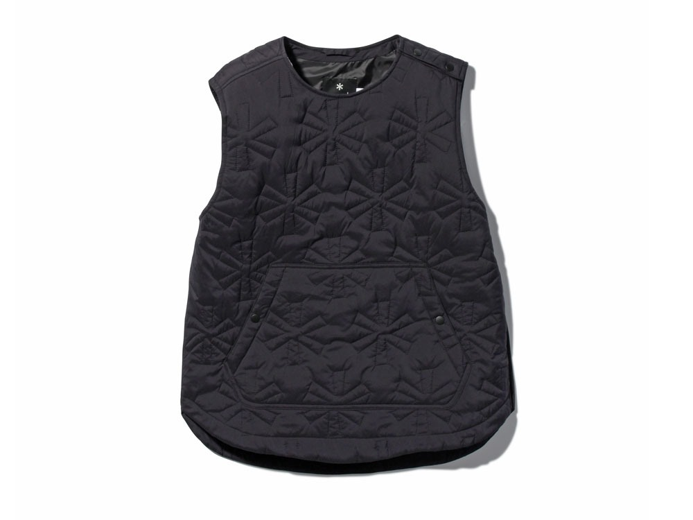 Quilting puff Vest S Black0