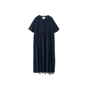 Hand-woven Cotton Gathered Dress 1 DA