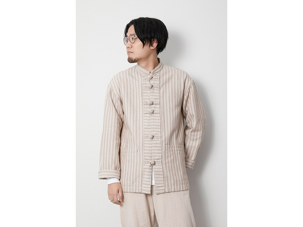 Cotton Herringbone Stripe CN JK S BG