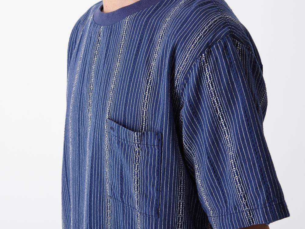 Dobby Striped Pullover M Navy5