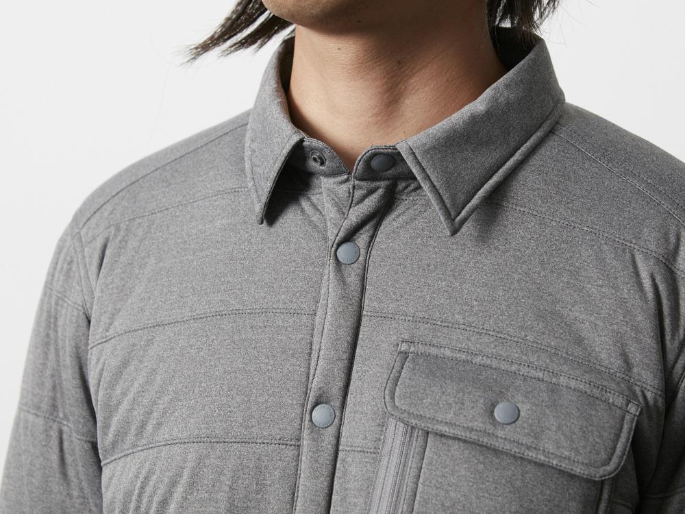 フレキシブルインサレーション シャツ M メランジェグレー