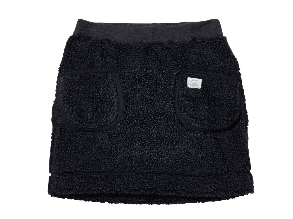 Soft Wool Fleece Skirt 4 Charcoal0