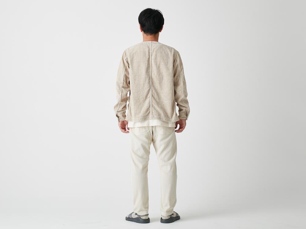 Linen Corduroy Jacket L Black3