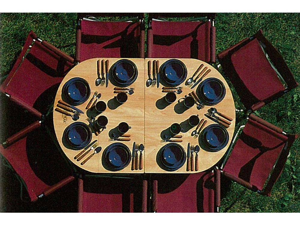 フォールディングテーブルオーバル竹