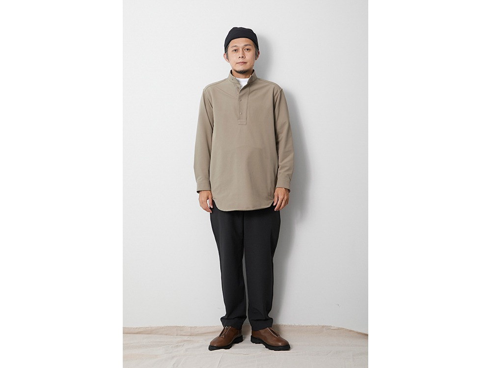 Nylon Power Wool Long Shirt 1 Black