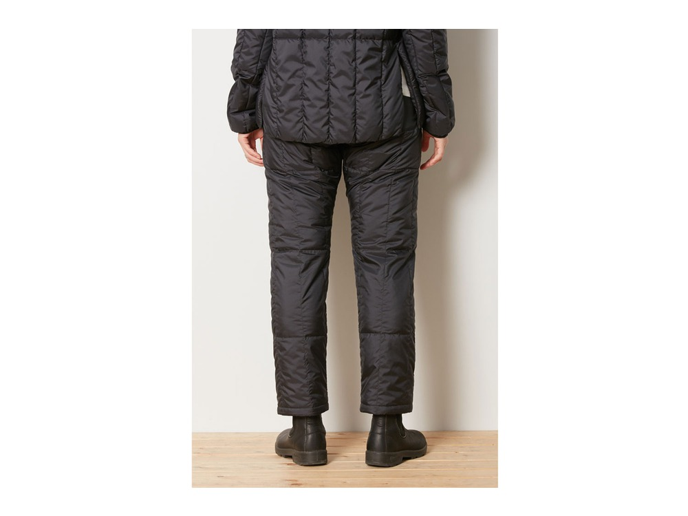 Recycled Middle Down Pants S Black