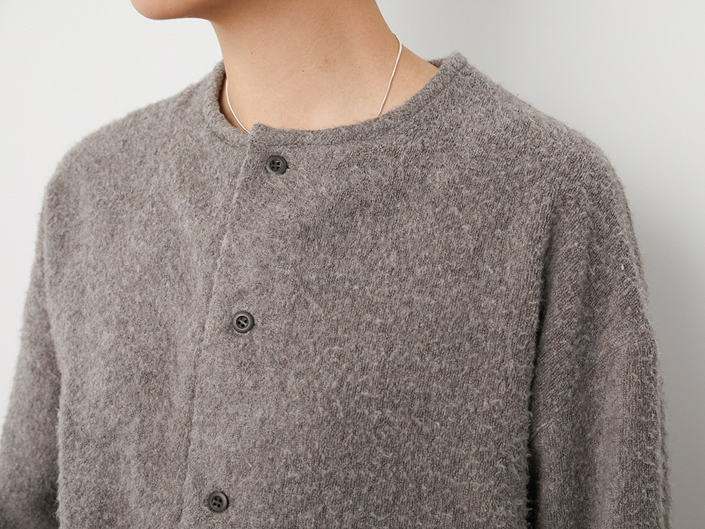 Yak Pile Cardigan 1 Grey