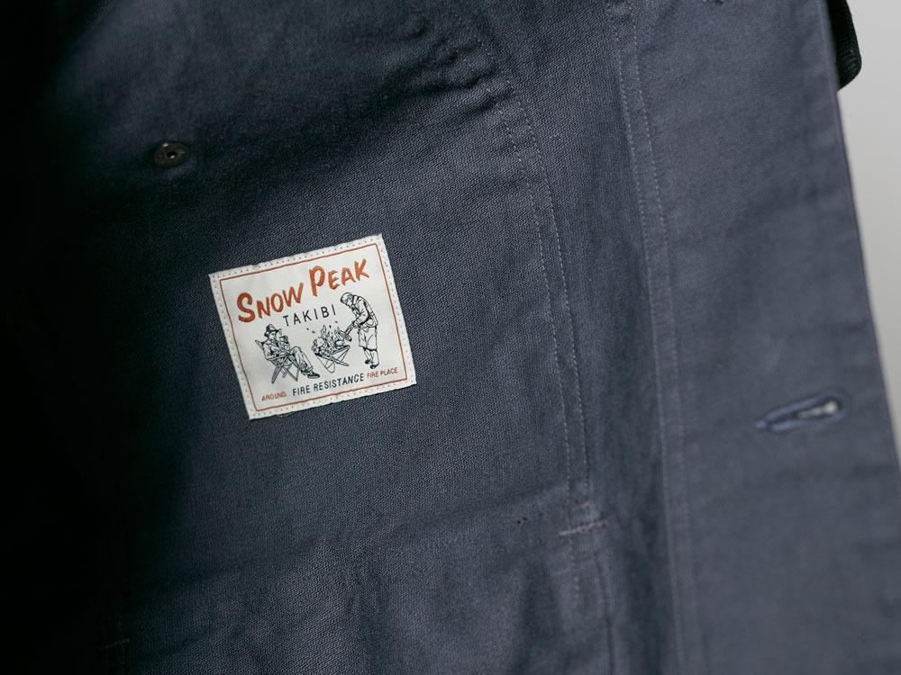 TAKIBI Shop Coat S Navy10
