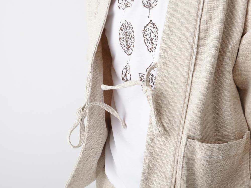 Linen HAORI Jacket S Ecru5